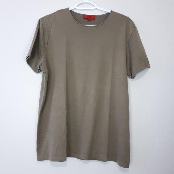 HUGO BOSS Silk Blend Short Sleeve Shirt